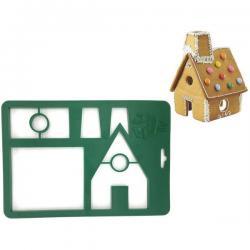 2459 Сладкарски шаблон резец за Коледна Джинджифилова къща