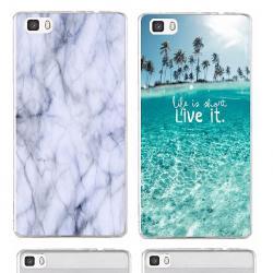 Силиконов или пластмасов гръб и закалено стъкло за Huawei P9 Lite