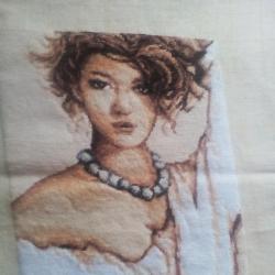 гоблен портрет на жена