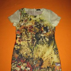 Оригинална цветна рокля цвят горчица, Kello Scandinavia