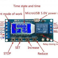 Реле за отлагане на стартовия модул за изключване и превключвател на з