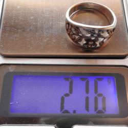 сребърен дамски пръстен - нежна, изящна изработка Красота