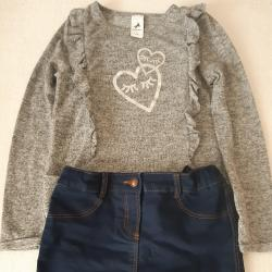 Комплект пола с блуза