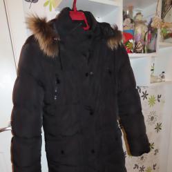 Дълго дамско зимно яке Нaofang с качулка от естествен косъм