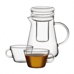 Комплект от стъклена кана 1лт., стъклена цедка и 4 чаши 250 мл. Simax