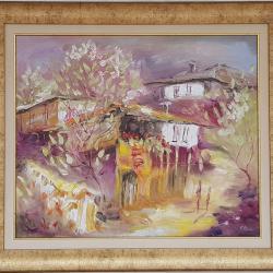 Лот от 5 маслени картини на художничката Екатерина Рангелова