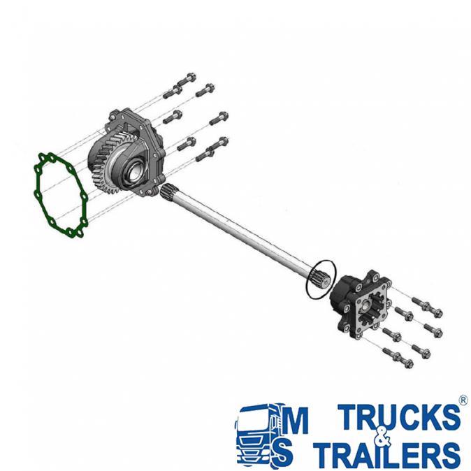 P. T. o. Включвател за скоростна кутия Scania Gr875 - Grs895 Hyva