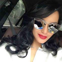 Нови сребристи огледални очила на Диор като на Алисия, ув з