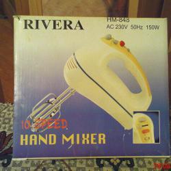 Миксер Ривиера НМ-848 в перфектно състояние, 220-230 вол. 50 хер.