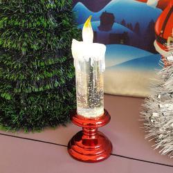 2486 Коледна електронна свещ с LED светлина, 20см