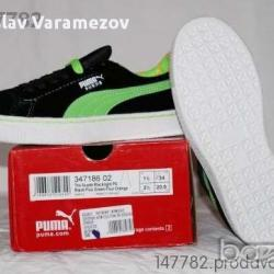 puma the suede blacklight размер 34 Юноша