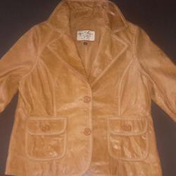 Дамско яке-сако естествена кожа