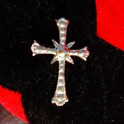 Позлатен старинен сребърен кръст.