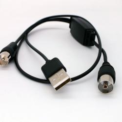 USB захранващ кабел за активни DVB - T Т2 ефирни антени