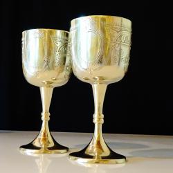Английски бокал, чаша, никелово сребро.