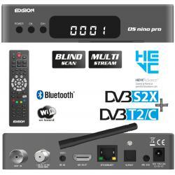 Edision OS Nino pro S2X T2 C Gray H. 265 Hevc Multistream