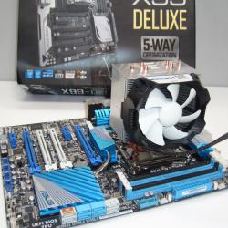 Намаление %%% Ново дъно Asus deluxe 8 ядрен процесор нов охладител