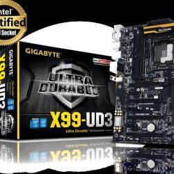 Дъно Gigabyte 2011 X99 24 ядрен процесор Xeon