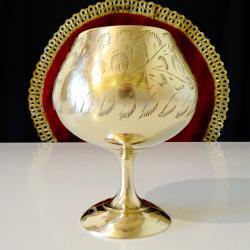 Старинна бронзова чаша за коняк, бренди.