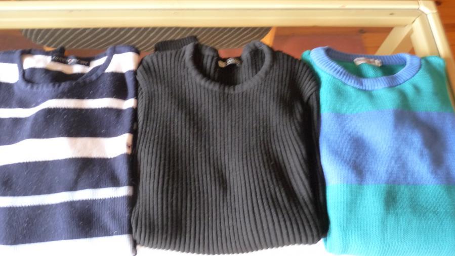 Мъжки пуловери - 3 броя, размери L и M