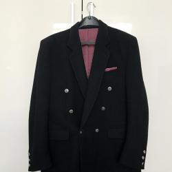 Черно зимно вълнено мъжко сако Paris Collection
