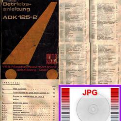 автокран ADK 125-2 автомобилен въртящ кран техническа документация CD