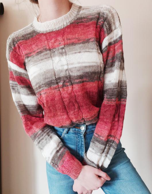 Ръчно плетена блуза, мохерна в три цвята