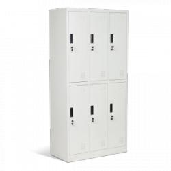 Метален шкаф с шест отделения  1243 J