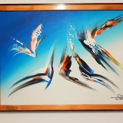 Абстрактна картина Fugler норв.  птици
