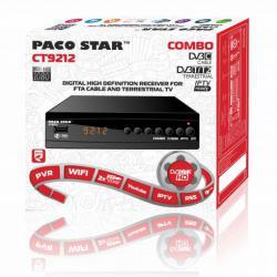 Комбиниран HD Dvb-c, Dvb-t2 приемник с iptv Paco Star Ct9212