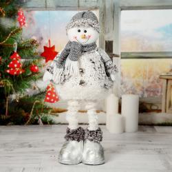 2504 Декоративна коледна фигура от плат Снежко с разтягащи се крака 32