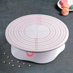 2522 Въртяща се стойка за торта оразмерена с опция за заключване поста