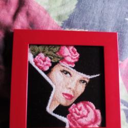 гоблен дама с рози