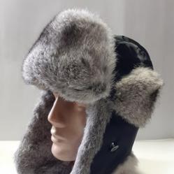 Мъжка шапка калпак ушанка заешка-41