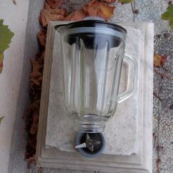 Стъклена кана за блендер в комплект с ножовете