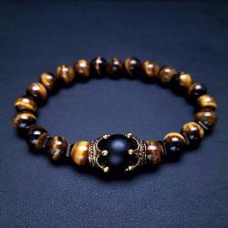 Ново Гривна с естествени камъни - Тигрово око