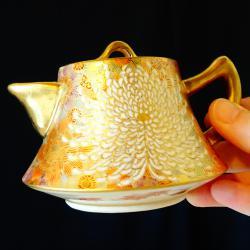 Чайник, кана Сацума период Мейджи, школа Шозан.