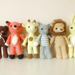 Ръчно плетени малки животинки, амигуруми играчки