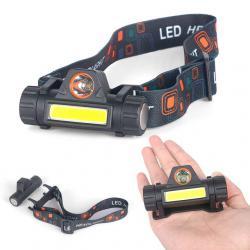 2435 Фенер за глава с магнит челник с USB зареждане