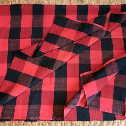 Чисто нов двулицев ръчнотъкан вълнен килим, покривало