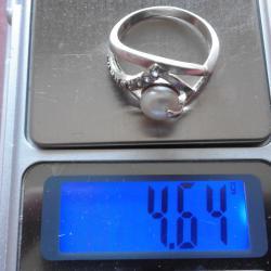 сребърен дамски пръстен с перла - нежна, изящна изработка Красота