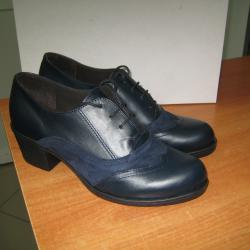 Дамски обувки м. 899 естествена кожа тъмно сини