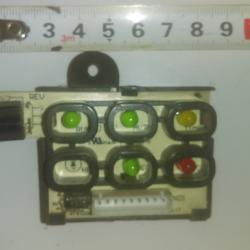 Платка с диодните индикатори от вътрешното тяло на климатик Midea.