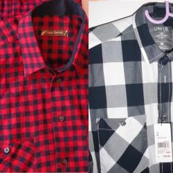 Карирани ризи с къс ръкав, р  -  р м