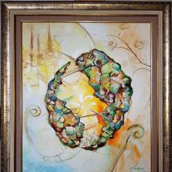 Продавам маслена картина Орех броненосец