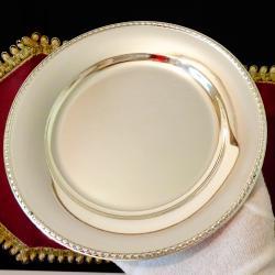 Посребрена чиния от месинг 18 см